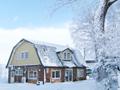 雪景色の米村牧場
